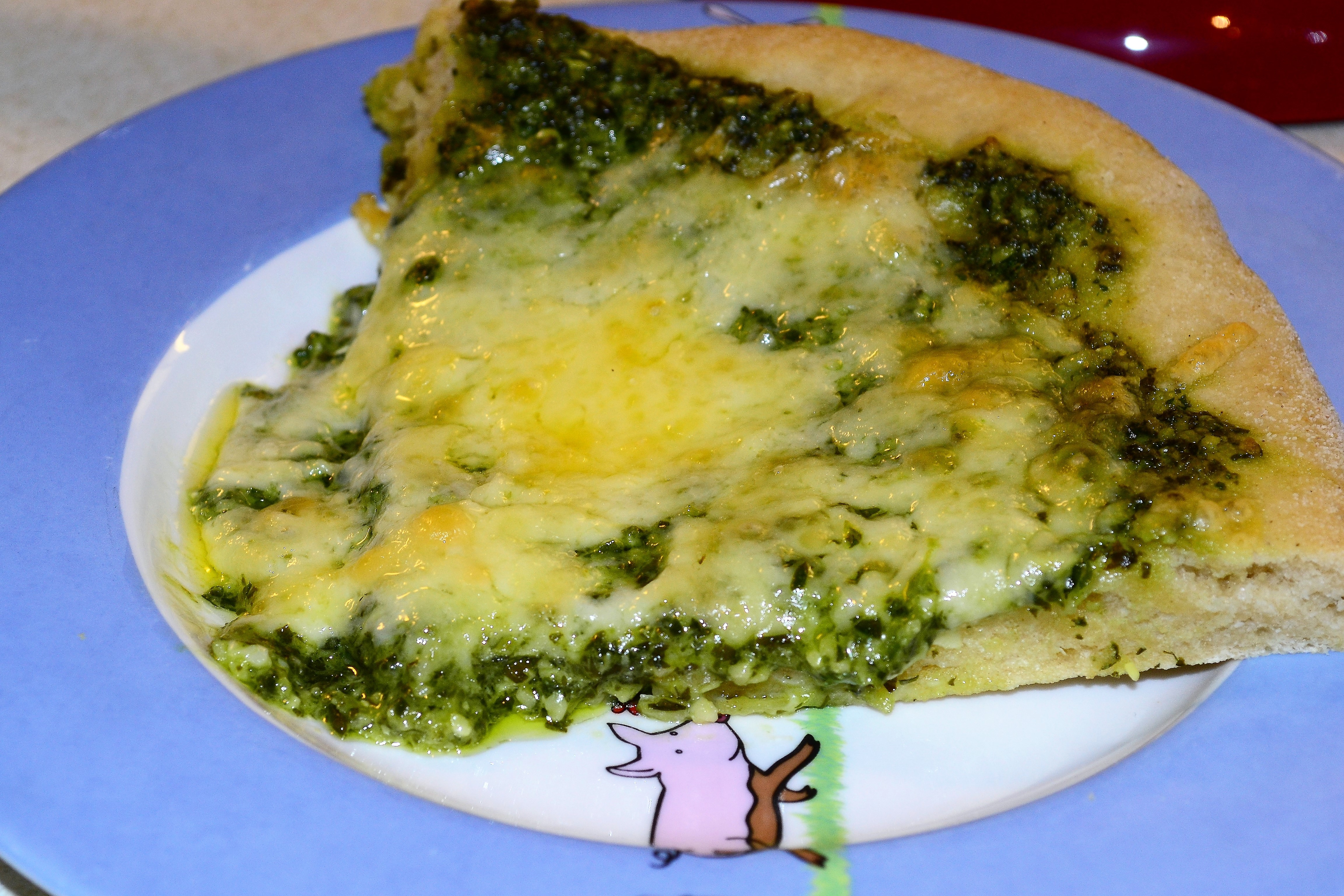 Toddler Friendly Green Pizza