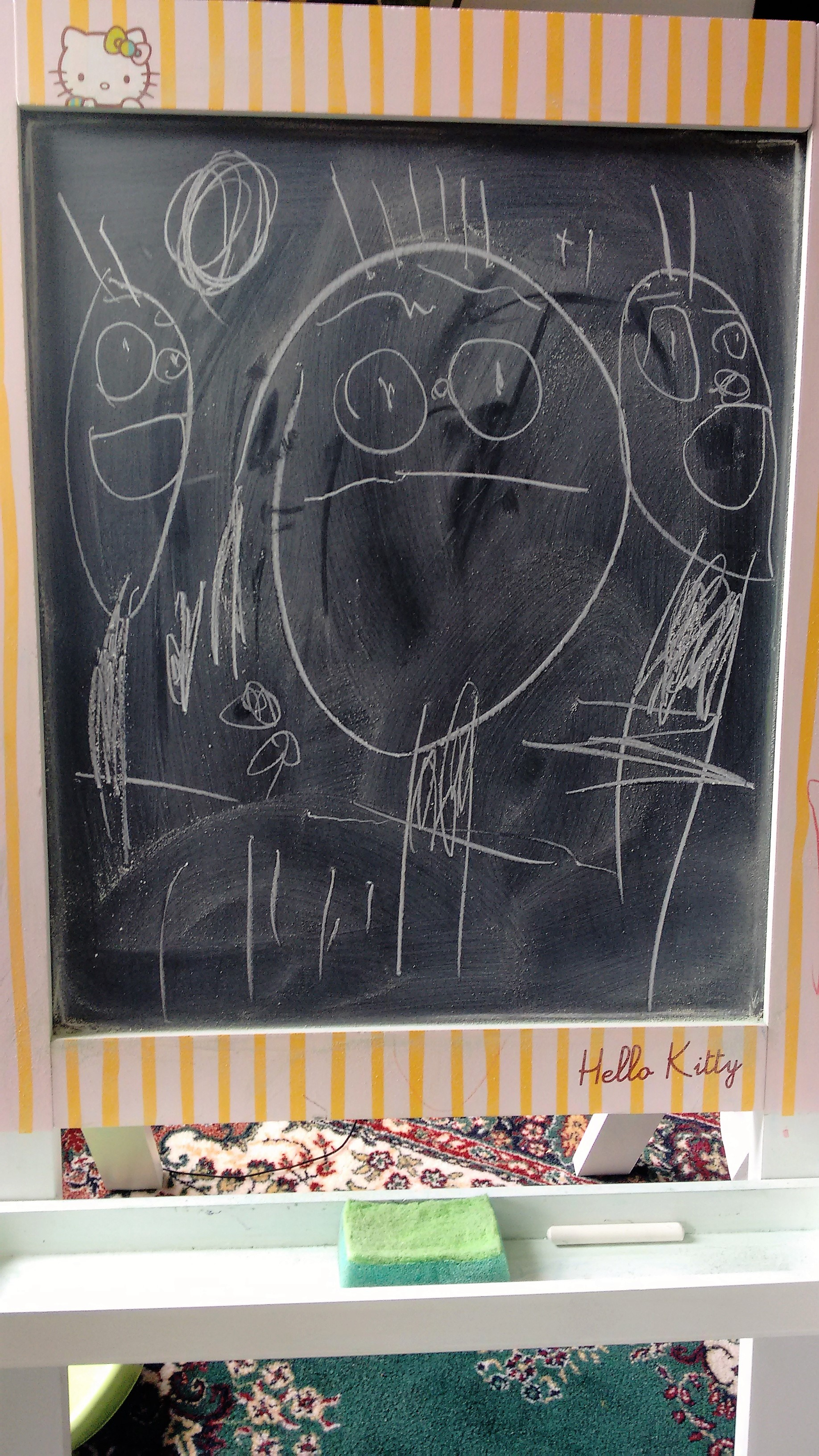 Chalk board family drawing