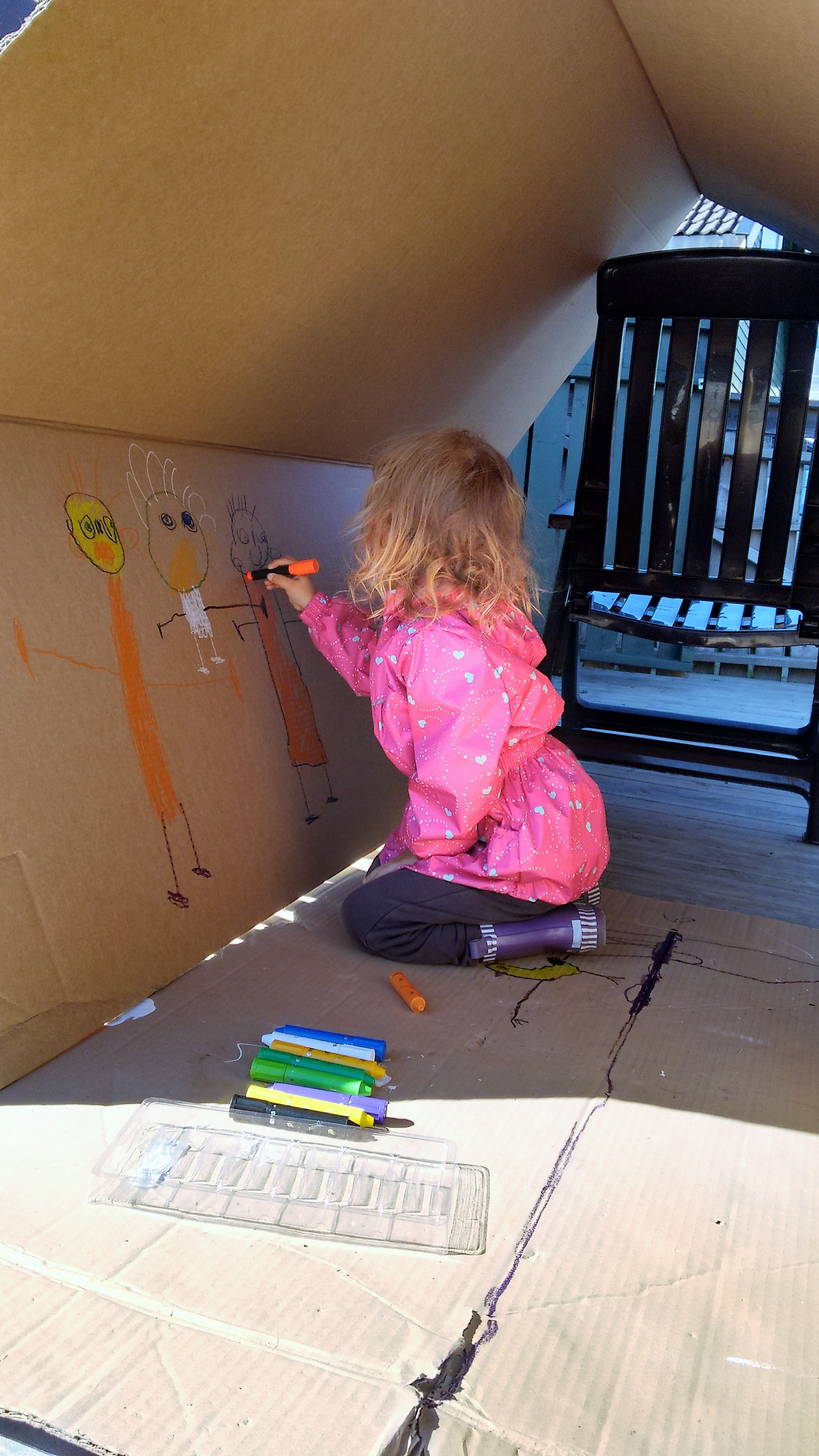 drawing outside