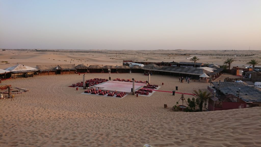 Abu Dhabi dessert. View of the bedouin camp.